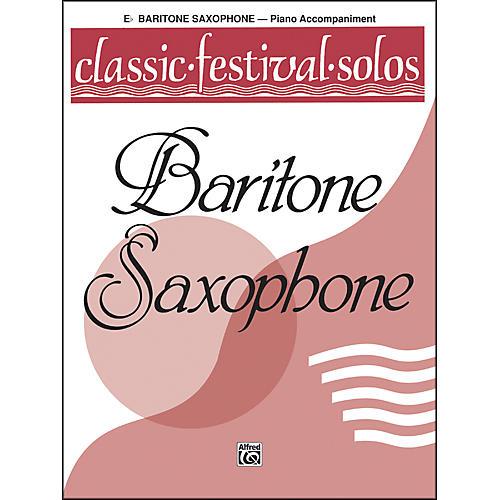 Alfred Classic Festival Solos (E-Flat Baritone Saxophone) Volume 1 Piano Acc.-thumbnail