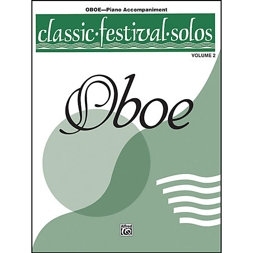 Alfred Classic Festival Solos for Oboe, Volume II Piano Acc. Book