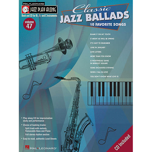 Hal Leonard Classic Jazz Ballads--Jazz Play Along Volume 47 Book with CD-thumbnail