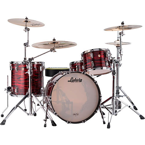 Ludwig Classic Maple 3-Piece Shell Pack Red Oyster Pearl