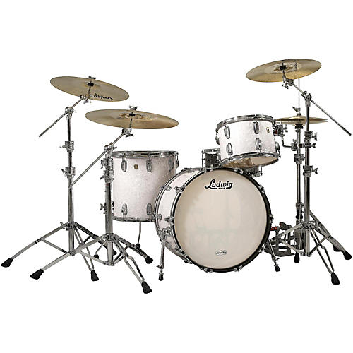 Ludwig Classic Maple 3-Piece Shell Pack White Marine Pearl