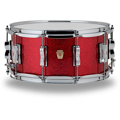Ludwig Classic Maple Snare Drum 14 x 6.5 in. Red Sparkle-thumbnail