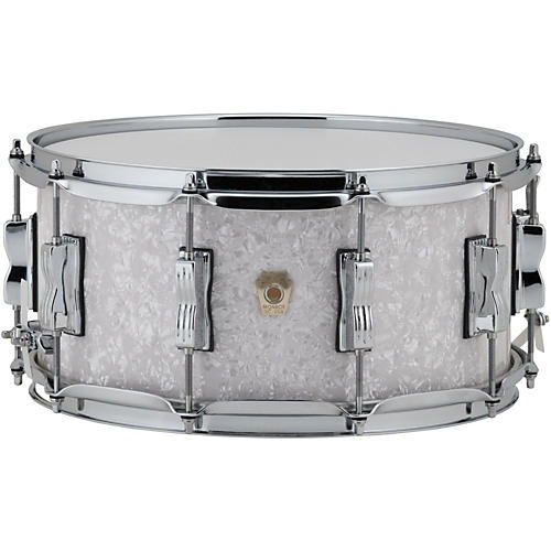 Ludwig Classic Maple Snare Drum 14 x 6.5 in. Vintage Black Oyster Pearl-thumbnail