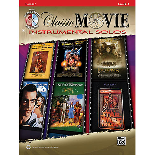 Alfred Classic Movie Instrumental Solos French Horn Play Along Book/CD-thumbnail