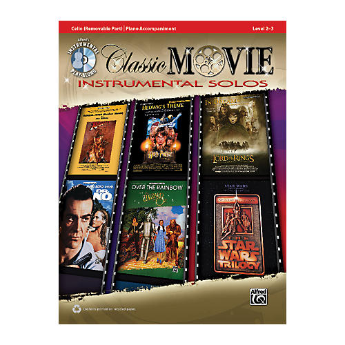 Alfred Classic Movie Instrumental Solos for Strings Cello Play Along Book/CD