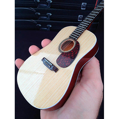 Axe Heaven Classic Natural Finish Acoustic Miniature Guitar Replica Collectible-thumbnail