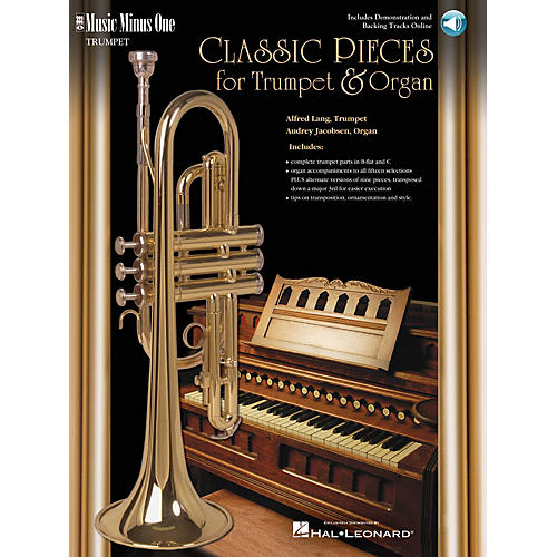 Music Minus One Classic Pieces for Trumpet & Organ (Book/2-CDs Pack) Music Minus One Series Softcover with CD
