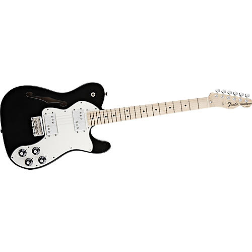 Fender Classic Player Telecaster Thinline Deluxe Electric Guitar Black