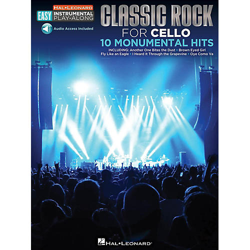 Hal Leonard Classic Rock - Cello - Easy Instrumental Play-Along Book with Online Audio Tracks-thumbnail