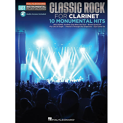 Hal Leonard Classic Rock - Clarinet - Easy Instrumental Play-Along Book with Online Audio Tracks-thumbnail