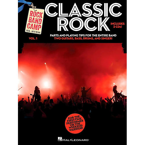 Hal Leonard Classic Rock - Rock Band Camp Vol. 1 (Book/2-CD Pack) Vocal, 2 Guitars, Bass, Drums-thumbnail