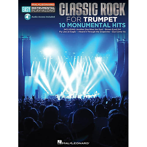 Hal Leonard Classic Rock - Trumpet - Easy Instrumental Play-Along Book with Online Audio Tracks-thumbnail