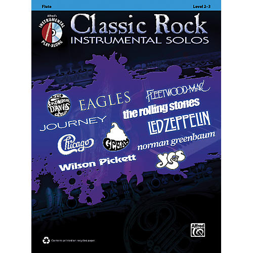 Alfred Classic Rock Instrumental Solos Flute Book & CD-thumbnail