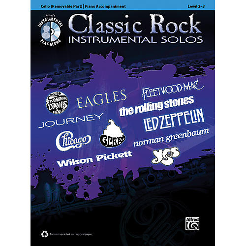 Alfred Classic Rock Instrumental Solos for Strings Cello Book & CD