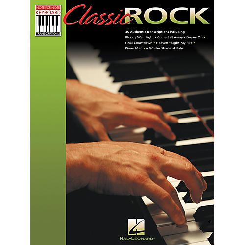 Hal Leonard Classic Rock Note for Note Keyboard Songbook-thumbnail