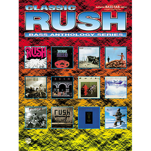 Alfred Classic Rush Anthology Series Bass Tab Book-thumbnail