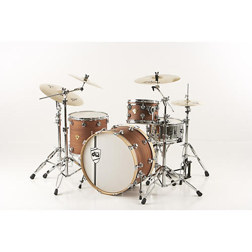 DW Classic Series 3-Piece Shell Pack Natural Mahogany Natural Chrome Hardware