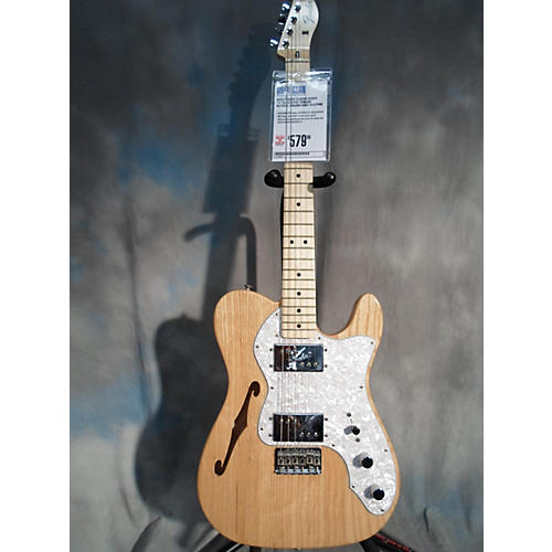 Fender Classic Series '72 Telecaster Thinline Natural Hollow Body Electric Guitar-thumbnail