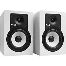 "Fluid Audio Classic Series C5 5"" Powered Studio Monitor - White (Pair)"