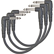 D'Addario Planet Waves Classic Series Right Angle Patch Cable 3-Pack
