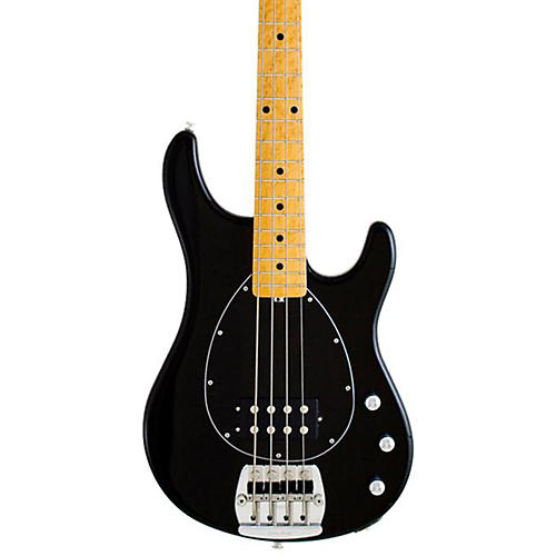Ernie Ball Music Man Classic Sterling 4 Electric Bass Guitar Black Maple Fretboard with Birdseye Maple Neck