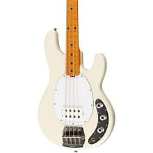 Ernie Ball Music Man Classic Stingray 4 Electric Bass Guitar Level 1 Ivory White Rosewood Fretboard with Birdseye Maple Neck