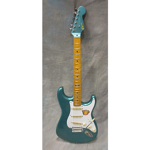 Squier Classic Vibe 1950S Stratocaster Solid Body Electric Guitar Sherwood Green Metallic