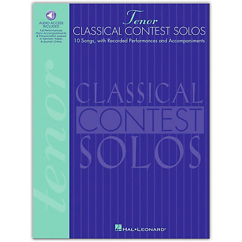 Hal Leonard Classical Contest Solos for Tenor Voice (Book/Online Audio)-thumbnail