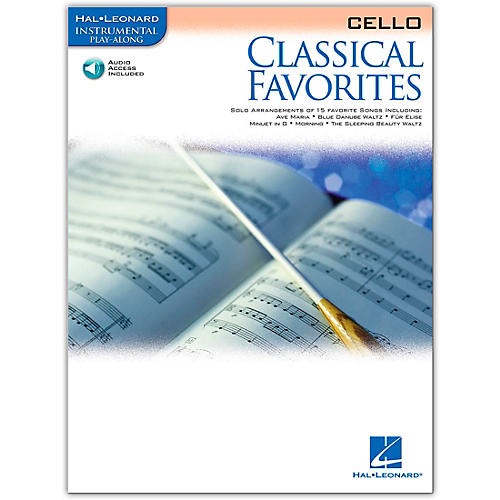 Hal Leonard Classical Favorites Cello Book/Online Audio Instrumental Play-Along