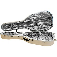 Hiscox Cases Classical Guitar Case/Small Ivory Shell/Silver Int-Artist