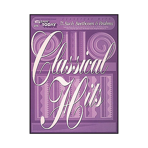 Hal Leonard Classical Hits - The Three B's Bach, Beethoven, Brahm's E-Z Play 275-thumbnail