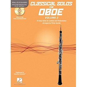Hal Leonard Classical Solos for Oboe, Vol. 2 Instrumental Folio Series BK/C... by Hal Leonard
