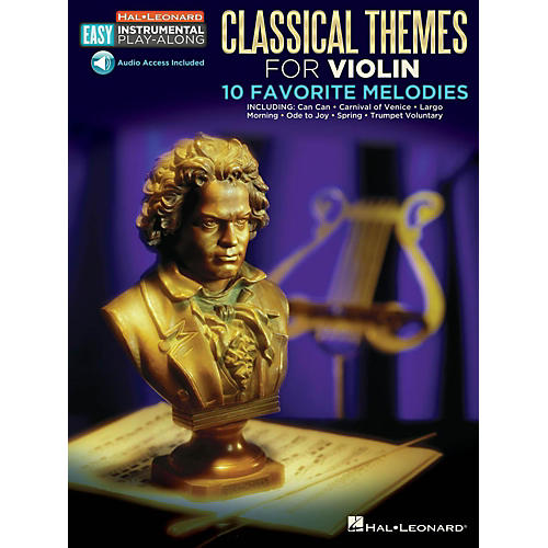 Hal Leonard Classical Themes - Violin - Easy Instrumental Play-Along Book with Online Audio Tracks-thumbnail