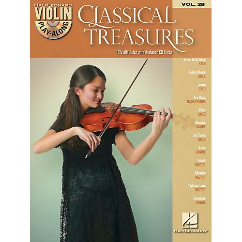 Hal Leonard Classical Treasures - Violin Play-Along Volume 28 Book/CD