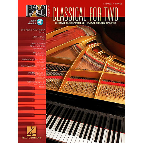 Hal Leonard Classical for Two Piano Duet Play-Along Volume 28 Book/CD