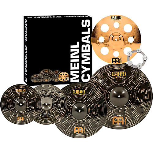 Meinl Classics Custom Dark Set Cymbal Pack with Free Trash Crash and Ching Ring-thumbnail