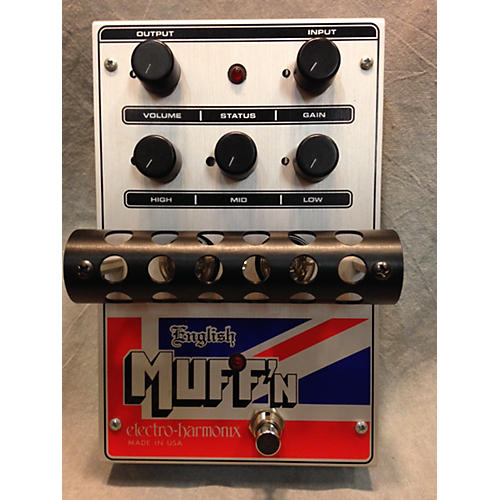 Electro-Harmonix Classics English Muff'n Overdrive Black And Silver Effect Pedal-thumbnail
