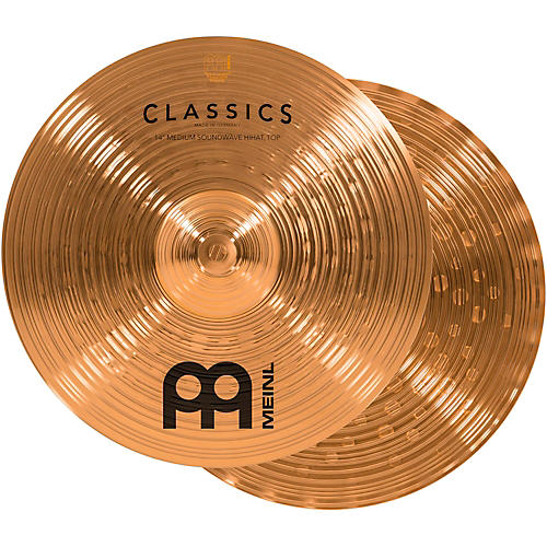 Meinl Classics Medium Soundwave Hi-Hat Cymbals 14 in.