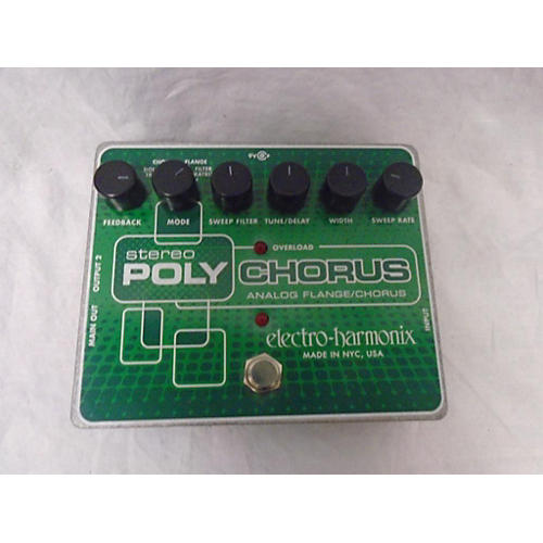 Electro-Harmonix Classics Stereo Polychorus Analog Flange / Chorus Effect Pedal