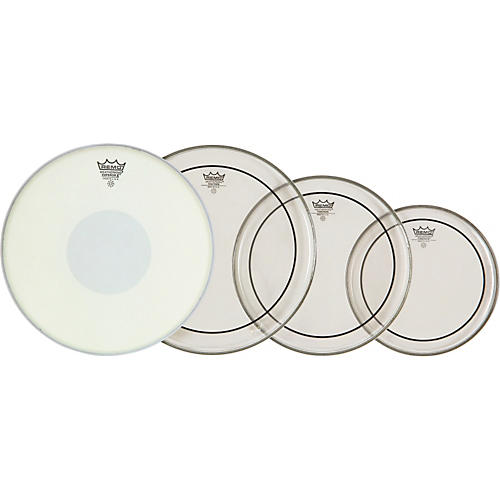 Remo Clear Pinstripe Fusion Pro Pack with Free 14 in. Emperor X Snare Drum Head-thumbnail