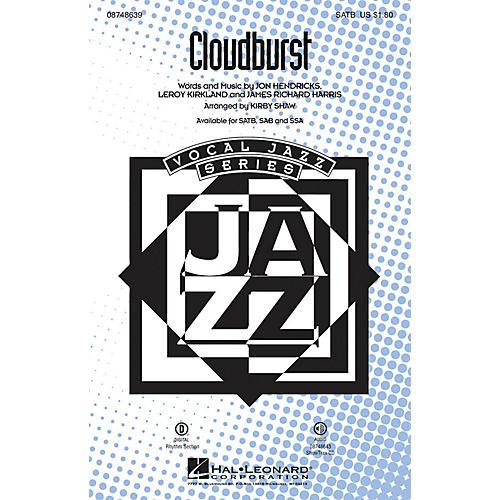 Hal Leonard Cloudburst ShowTrax CD Arranged by Kirby Shaw