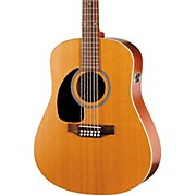 Coastline Series S12 Left-Handed 12-String QI Dreadnought Acoustic-Electric Guitar