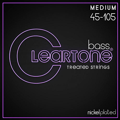 Cleartone Coated Medium Electric Bass Guitar Strings-thumbnail