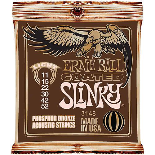 Ernie Ball Coated Slinky Phosphor Bronze Acoustic Strings Light-thumbnail