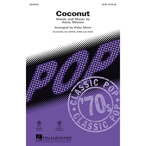 Hal Leonard Coconut (ShowTrax CD) ShowTrax CD Arranged by Kirby Shaw