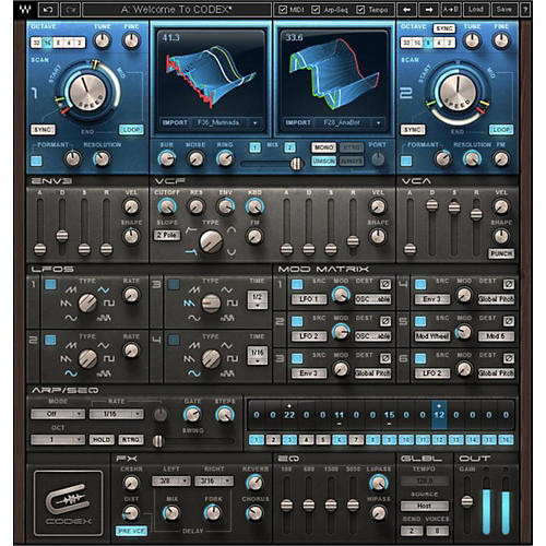 Waves Codex Wavetable Synth Native/SG Software Download-thumbnail