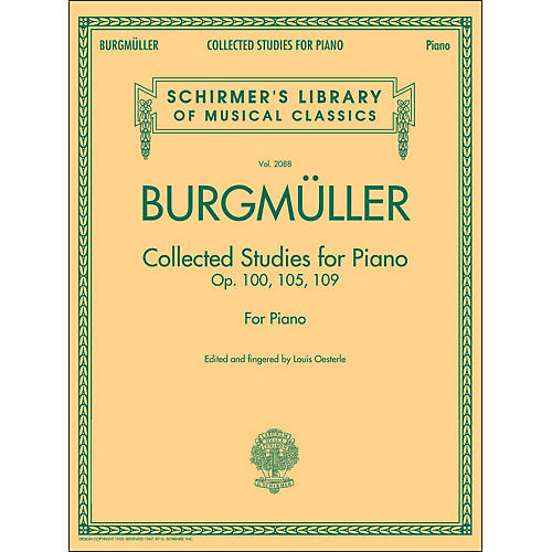 G. Schirmer Collected Studies for Piano - Op. 100 105 109 By Burgmuller-thumbnail