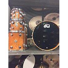 DW Collector's Cherry Lacquer Custom Shell Pack Natural With Chrome Hardware Drum Kit
