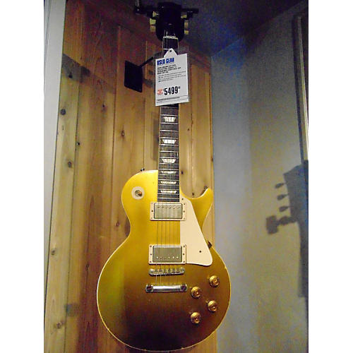 Gibson Collectors Choice 12 Juszkiewicz Les Paul Aged Gold Top Solid Body Electric Guitar