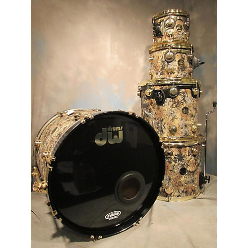 DW Collectors Drum Kit Gold Black Swirl